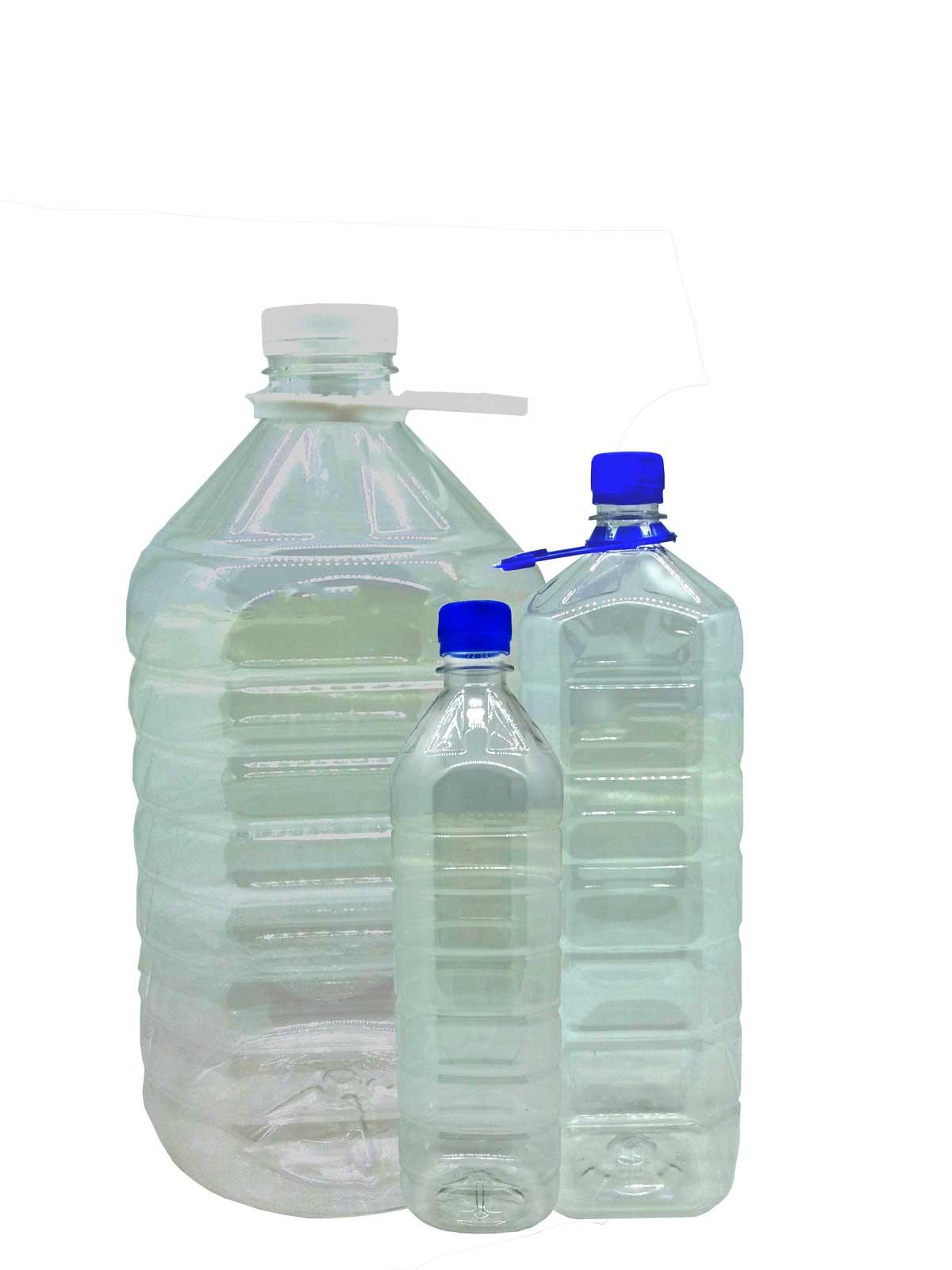 Производство пластиковой бутылки.