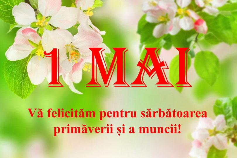 Поздравляем Вас с праздником 1 мая, праздником весны и труда!
